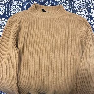 M camel colored mock high neck sweater.